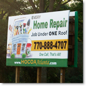 Billboard ad design - Woodstock GA