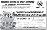 Bridgemill HOA newsletter ad design
