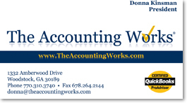 Accounting - CPA business card design and business card printing - Woodstock, GA