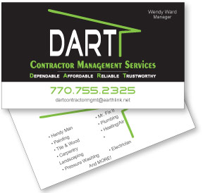 Business card design - Cherokee county contractor