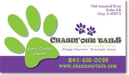 Chicago's Chasin Our Tails Business Card