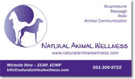 Pet industry business card - Fort Lauderdale, FL
