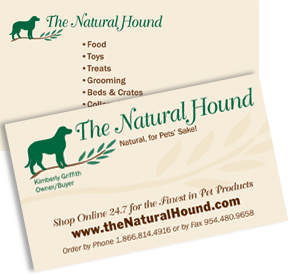 Pet industry business card design and printing